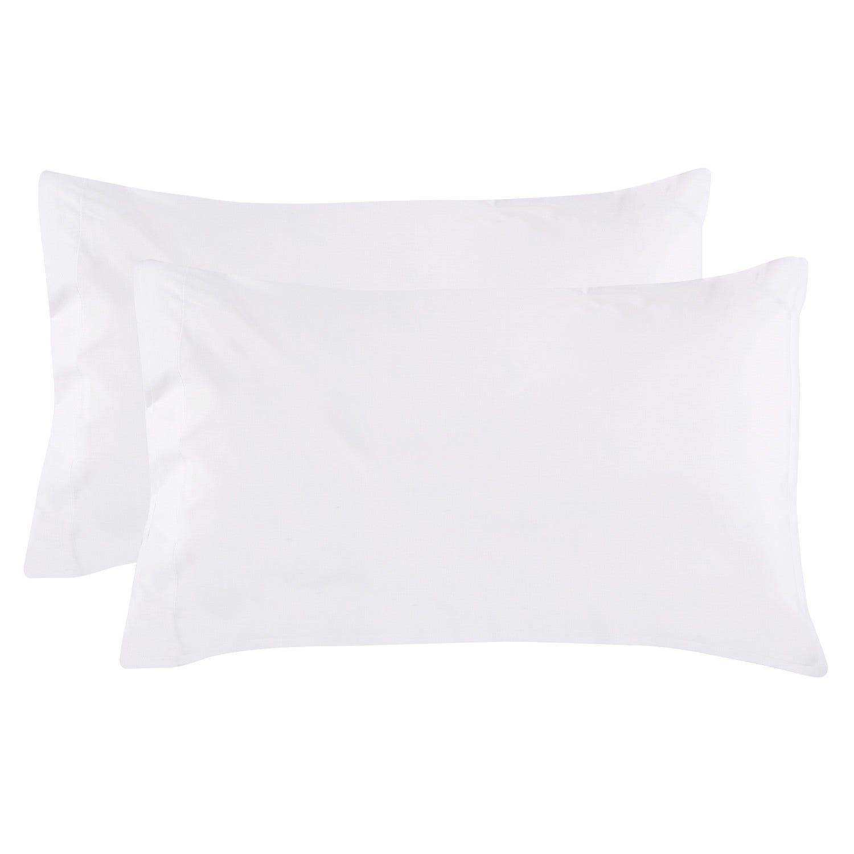 Set 2 Fundas Almohada 52 X 76 cm Blanco