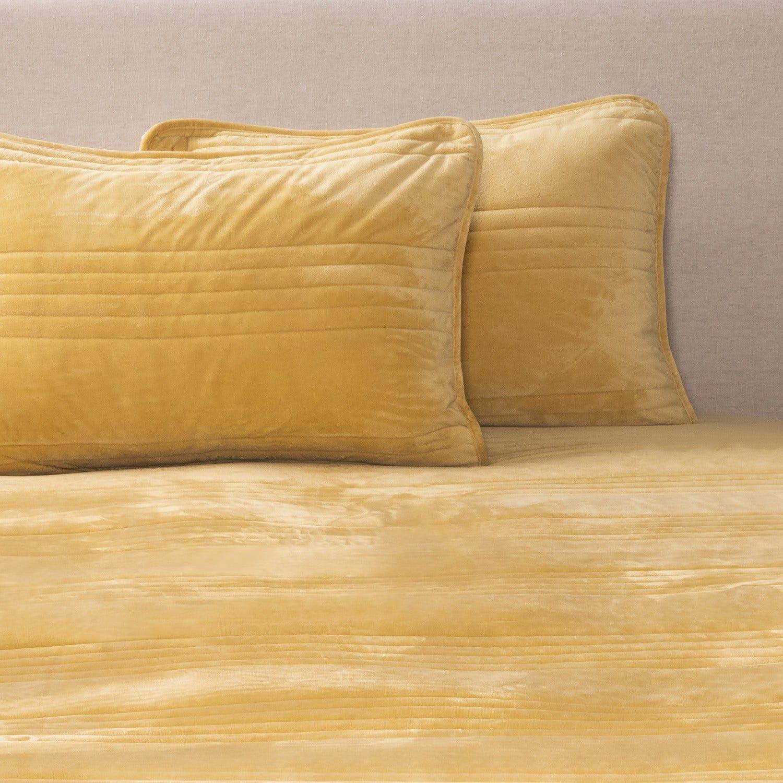 Cobertor 2 Plazas Velvet Mustard