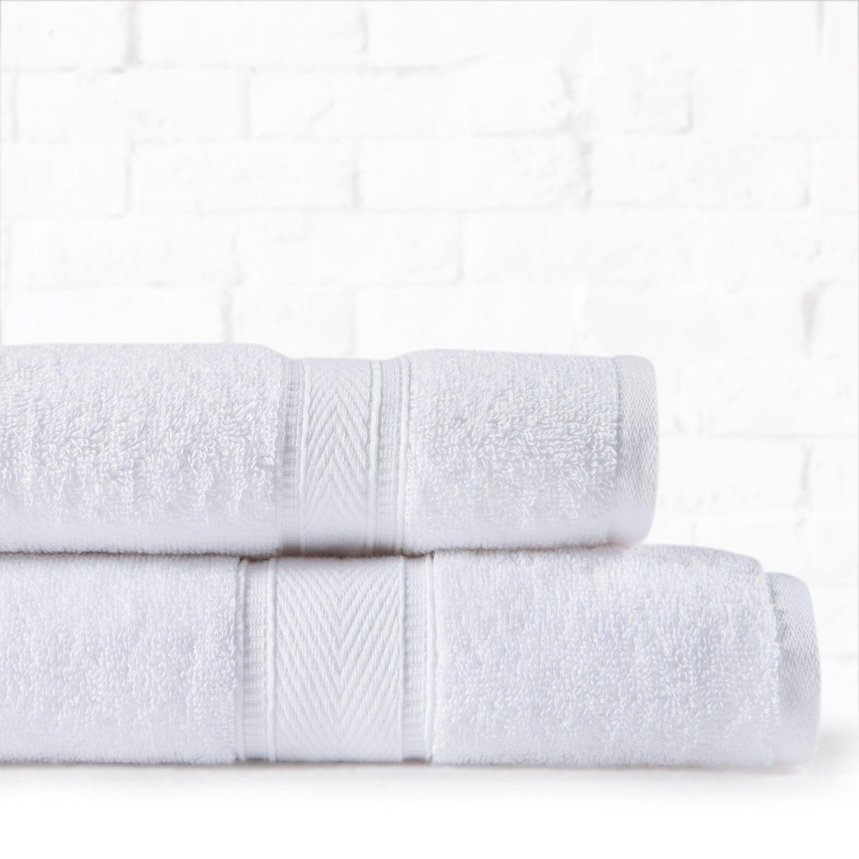 Set Toallas HOTEL Mano y Baño Blanco