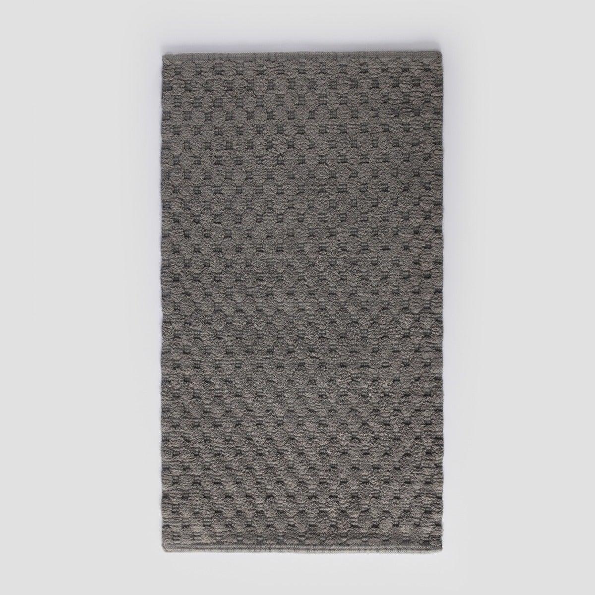 Piso Baño Algodón  60X100 Dots Gray